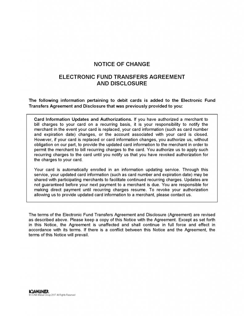 Notices & Disclosures - Americo FCU